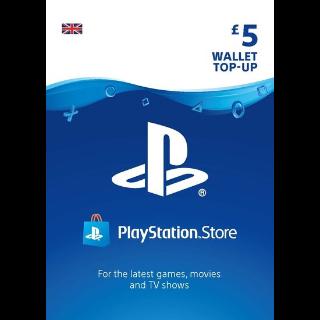 £5.00 PlayStation Store UK
