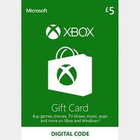 £5.00 Xbox Gift Card Key/Code UK Account