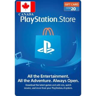 $20.00 PlayStation Store CANADA ONLY