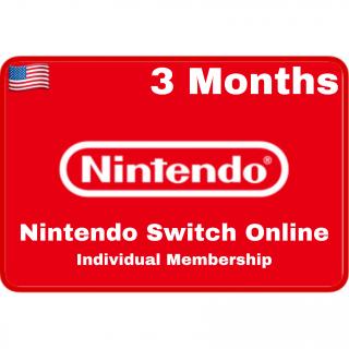 [𝐈𝐍𝐒𝐓𝐀𝐍𝐓 𝐃𝐄𝐋𝐈𝐕𝐄𝐑𝐘] Nintendo Switch Online Individual Membership 3 Months UNITED STATES