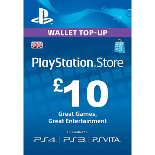 £10.00 PlayStation Store UK