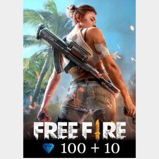 [𝐈𝐍𝐒𝐓𝐀𝐍𝐓 𝐃𝐄𝐋𝐈𝐕𝐄𝐑𝐘] FREE FIRE 100+10 DIAMOND Global