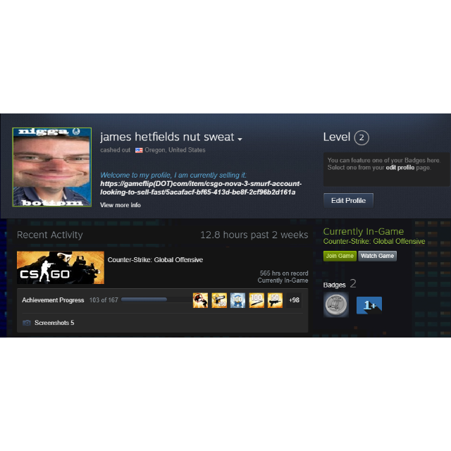 CSGO NOVA 4 Smurf Account WITH GAMES LOOKING TO SELL FAST