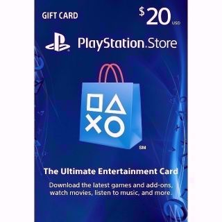 PSN $20 (USD) Gift Card - Fast Delivery