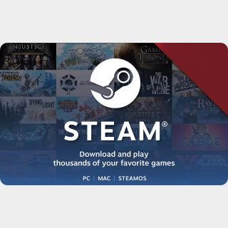 US - $20 Steam Gift Card - Fast Delivery