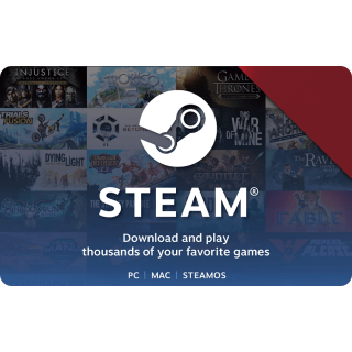USD $20 Steam Gift Card - Instant Delivery
