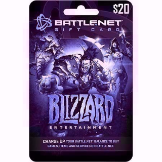 USD $20 Battlenet Gift Card - Instant Delivery