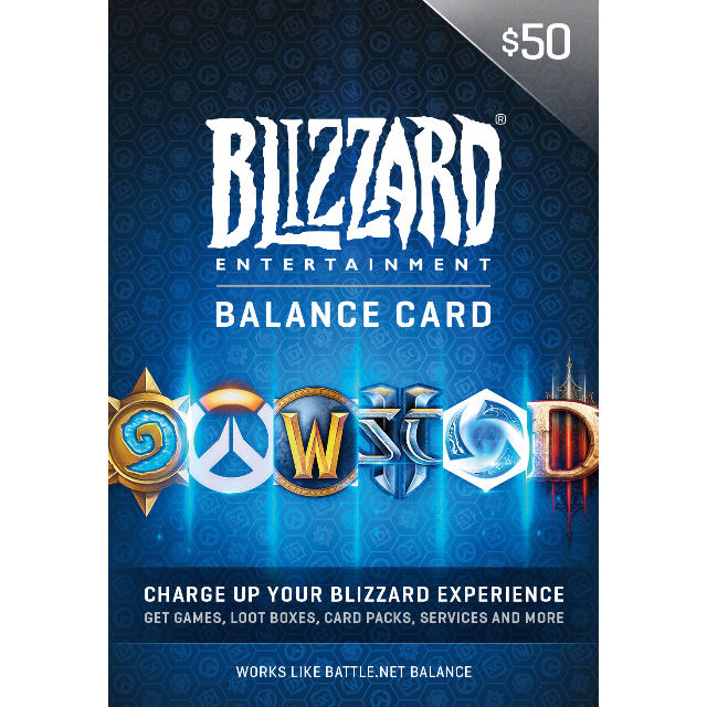 USD $50 Battlenet Blizzard Gift Card - Instant Delivery - Other Gift