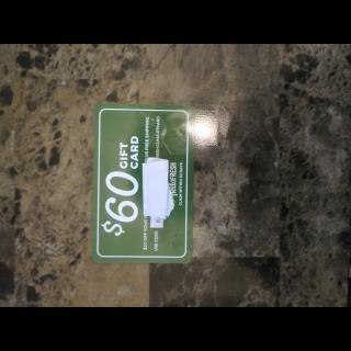 $60.00 Gift Card