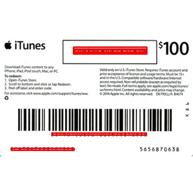 $100 USA iTunes Gift Card (INSTANT Email Delivery) - iTunes Gift