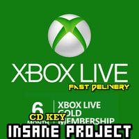 XBOX LIVE GOLD 6 months membership membership Xbox Key