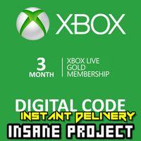 ⭐ɪɴ𝐬ᴛᴀɴᴛ!⭐ 3 Month Xbox Live Gold Key GLOBAL