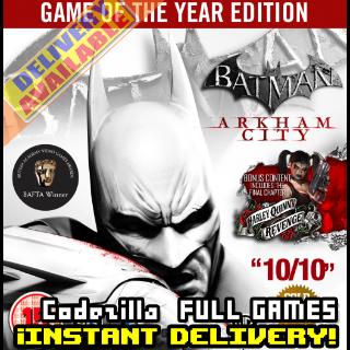 Batman: Arkham City - Game of the Year Edition Steam Key GLOBAL