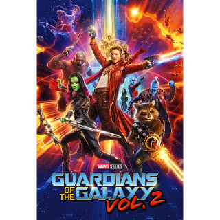 Guardians Of The Galaxy Vol. 2 HDX Vudu, MA, iTunes, or Google Play