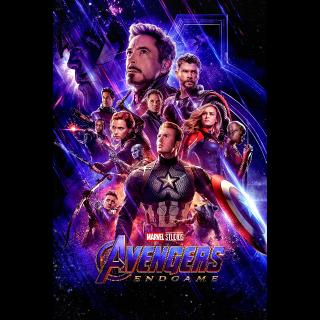 Avengers Endgame HDX VUDU or HD iTunes via MA