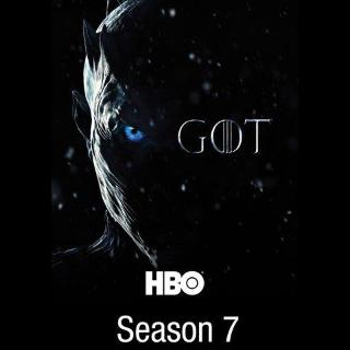 Game of Thrones Season 7 HDX VUDU & HD iTunes(Full Code)