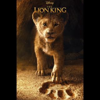 The Lion King HDX VUDU OR ITUNES HD VIA MA - (DIGITAL CODE)