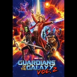 Guardians Of The Galaxy Vol. 2 HDX Vudu, MA, iTunes, or Google Play