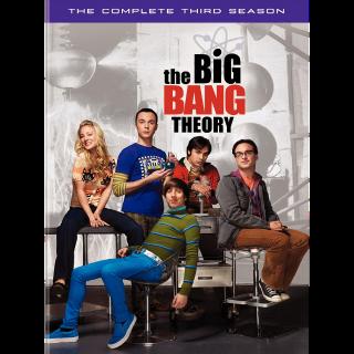 THE BIG BANG THEORY SEASON 3 ITUNES HD