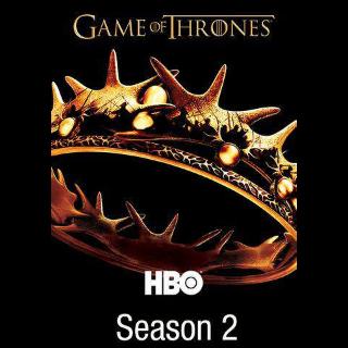 Game of Thrones Season 2 HDX VUDU