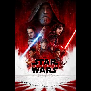 Star Wars: The Last Jedi HDX Vudu, MA, iTunes, or Google Play