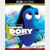 Finding Dory 4K iTunes [ FLASH DELIVERY ⚡ ] [ports to MA]