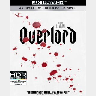 Overlord 4K Vudu [ FLASH DELIVERY ⚡ ]