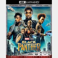Black Panther 4K iTunes [ FLASH DELIVERY ⚡ ] [ports to MA]