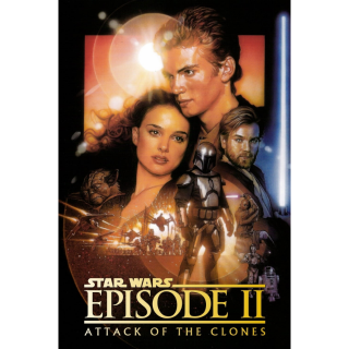 Star Wars: Episode II - Attack of the Clones HD iTunes [ FLASH DELIVERY ⚡ ] [MA Compatible]