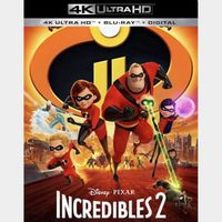 Incredibles 2 4K iTunes [ FLASH DELIVERY ⚡ ] [ports to MA]