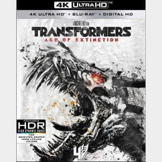 Transformers: Age of Extinction 4K iTunes [ FLASH DELIVERY ⚡ ]