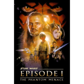 Star Wars: Episode I - The Phantom Menace HD iTunes [ FLASH DELIVERY ⚡ ] [MA Compatible]