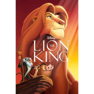 The Lion King (1994) HD iTunes [ FLASH DELIVERY ⚡ ] [MA Compatible]