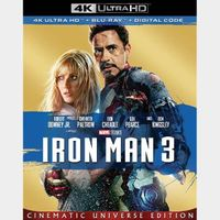 Iron Man 3 4K iTunes [ FLASH DELIVERY ⚡ ] [ports to MA]