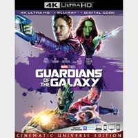 Guardians of the Galaxy 4K Vudu [ FLASH DELIVERY ⚡ ] [ports to MA]