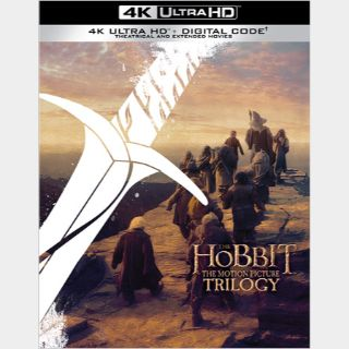 The Hobbit Trilogy 4K Movies Anywhere [Theatrical & Extended Editions Bundle] [ FLASH DELIVERY ⚡ ]