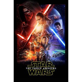 Star Wars: The Force Awakens HD MA [ FLASH DELIVERY ⚡ ]