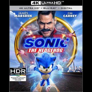 Sonic the Hedgehog 4K Paramount Code Vudu|Fandango|iTunes [ FLASH DELIVERY ⚡ ]
