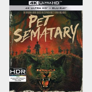 Pet Sematary 1989 4K Vudu [ FLASH DELIVERY ⚡ ]