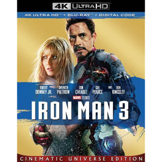 Iron Man 3 4K Vudu [ FLASH DELIVERY ⚡ ] [ports to MA]