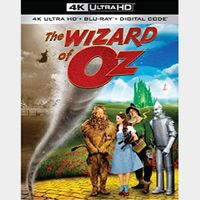 The Wizard of Oz 4K MA Code [ FLASH DELIVERY⚡ ]
