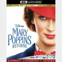 Mary Poppins Returns 4K iTunes [ 1 DAY DELIVERY ] [ports to MA]