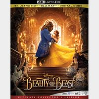 Beauty and the Beast 4K iTunes [ FLASH DELIVERY ⚡ ] [ports to MA]