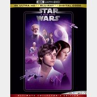 Star Wars A New Hope 4K iTunes [ FLASH DELIVERY ⚡ ] [ports to MA]