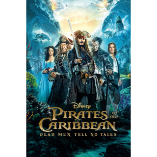 Pirates of the Caribbean: Dead Men Tell No Tales HD MA [ FLASH DELIVERY ⚡ ]