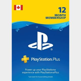 PlayStation Plus 12 months CANADA [ 1 DAY DELIVERY ]