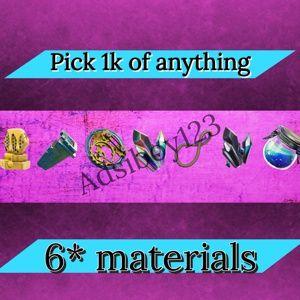 Bundle | choose 1k 6* materials