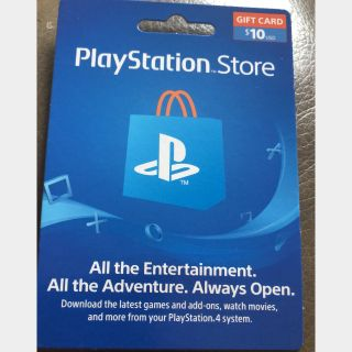 $10.00 PlayStation Store INSTANT DELIVERY BEST SELLER