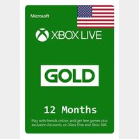 Xbox Live Gold 12 months (USA) INSTANT DELIVERY
