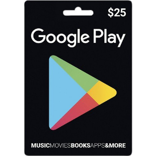Google Play $25 Gift Code US Auto Delivery